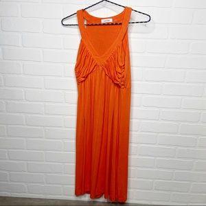 Calvin Klein sleeveless orange summer dress 6